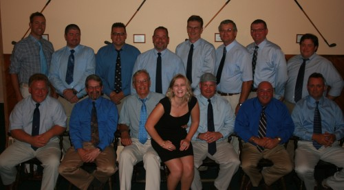 Back Row (left to right): Captain Josh Cupp, Joe Hughes, Larry Natale, Jeff Potter, Ken Caldwell, Larry Kalk, Tom Peters, AC Jake Smith Front Row (left to right): Ed Evans, Mike Smith, John Domagal, AC Caitlin Henry, JR Purrington, Ed Graziano, Brian Lamay