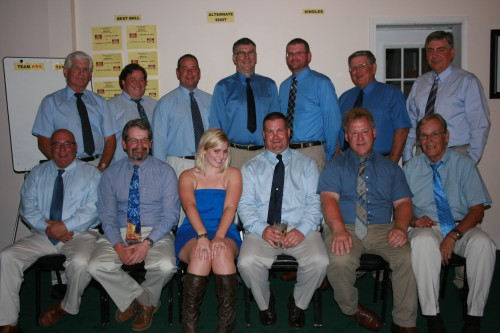 2011 Team Josh - Back Row (left to right): Dave Fay, Captain Jake Smith, Jeff Potter, Ken Caldwell, Tom M. Peters, Tom W. Peters, Paul Katchmar; Front Row (left to right): Ed Graziano, Mike Smith, Assistant Captain Caitlin Henry, JR Purrington, Ed Evans, John Domagal - Invisible: Robert Taylor
