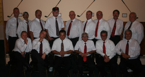 Back Row (left to right): Captain Wes Cupp, Dave French, Wayne Cacciatori, Pete Fitsik, Mark Lloyd, Matt Ferdinand, Eric Maya, John Pollex, AC Bob Pawlak Front Row (left to right): Jeff Gifford, John Haberer, Joe Vescio, AC Karl Kotary, Dennis Bird, Ron Artigiani